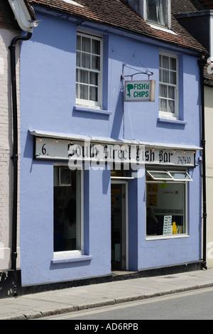 British Fish and chip shop - Stock Photo