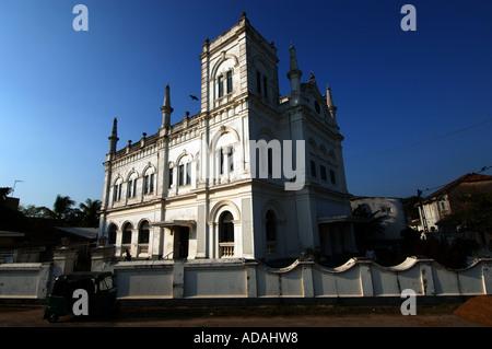 Galle Fort the Meeran Jumma Masjid mosque - Stock Photo