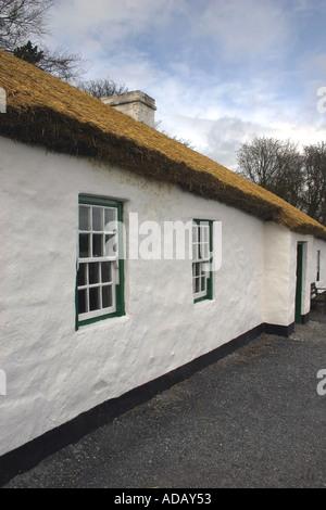 Ballydugan Weavers House Cultra Folk and Transport Museum - Stock Photo