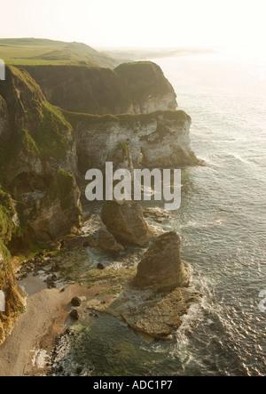 White Rocks, Portrush, Co. Antrim, Northern Ireland - Stock Photo