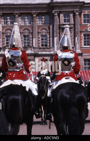 Life Guards Troopers, Changing the Guard, Horseguards Parade, London - Stock Photo