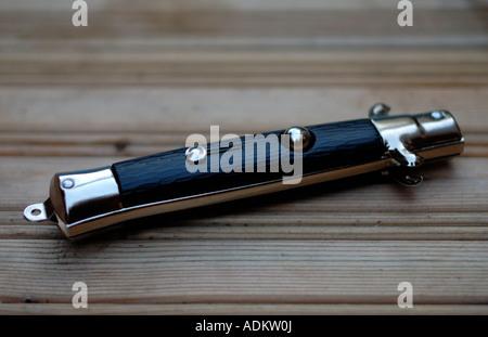 Flick Knife or Lock Knife - Stock Photo