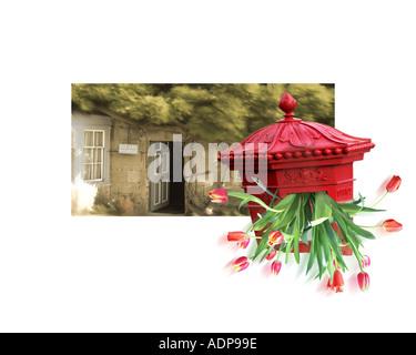 GB  -ENGLAND: Greetingcard design - Stock Photo