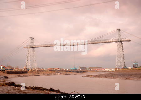 THE TRANSPORTER BRIDGE NEAR THE PORT IN NEWPORT SOUTH WALES UK - Stock Photo
