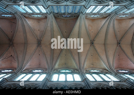 Nave of Notre Dame Cathedral (Amiens-Picardy-France) - Stock Photo