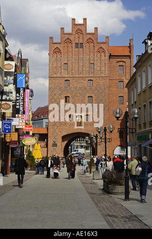 The Upper gate (High Gate) in Old town, Olsztyn, Poland - Stock Photo