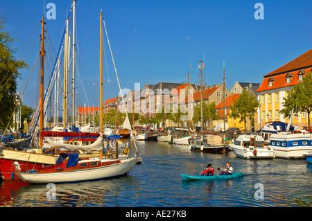 Boats at Havnebadet the Christianhavns Kanal in Copenhagen Denmark Europe - Stock Photo