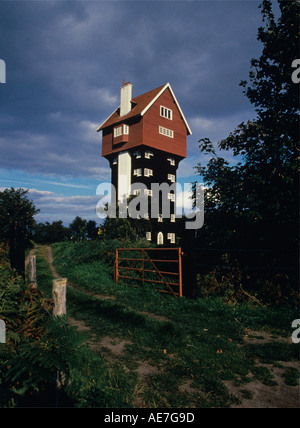 Converted Water Tower known as The House In The Clouds Thorpeness early 20th century folly Suffolk Coast - Stock Photo