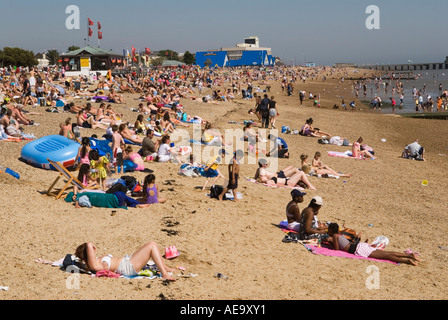 Southend on Sea Essex England the tide  is out. HOMER SYKES - Stock Photo