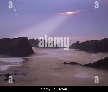 IE - CO.KERRY:  Sunset over Ballyferriter Bay on the Dingle Peninsula - Stock Photo