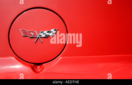 Chevrolet corvette logo American old car classic history vehicle vintage antipodes symbol collector age golden motoring - Stock Photo