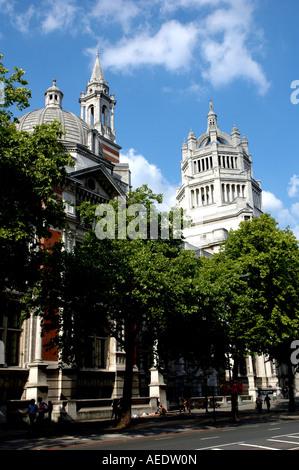 Exterior of the Victoria & Albert Museum in Soutrh kensington London UK - Stock Photo