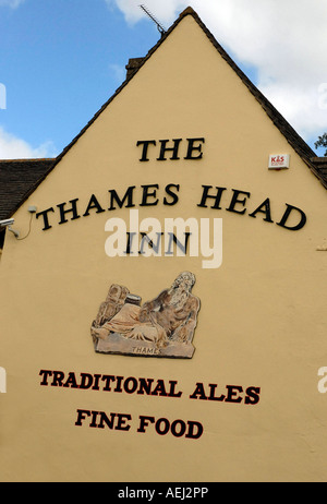 Thames Head Pub, Kemble, Gloucestershire, near to the source of the River Thames, England - Stock Photo