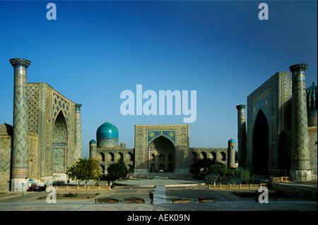 Registan square in Samarkand, Uzbekistan - Stock Photo