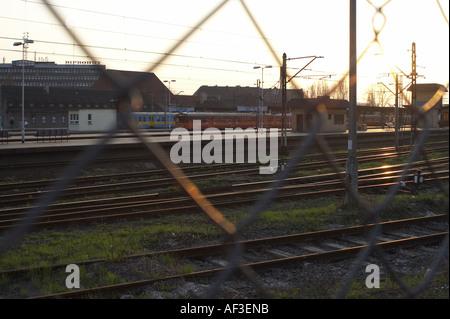 Main train station. Upper Silesia Gliwice Poland - Stock Photo