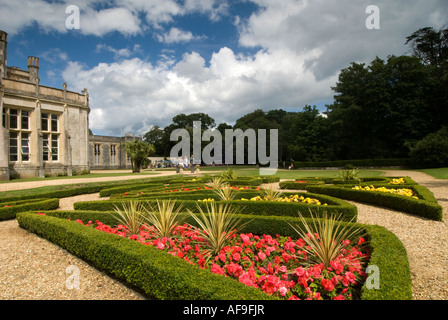 Highcliffe Castle and gardens, Dorset, UK - Stock Photo