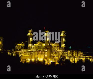 Oil and Gas plant California USA - Stock Photo