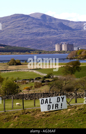 Dal Dy Dir Hold Your Ground campaign against second homes and high property prices in Gwynedd North Wales UK - Stock Photo