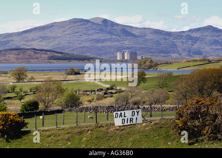 Dal Dy Dir Hold Your Ground campaign against second homes and high property prices in Gwynedd North Wales UK GB - Stock Photo