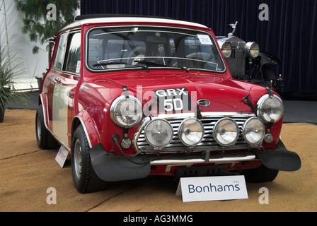 Paddy Hopkirk 1967 Circuit of Ireland winner 1966 Austin Mini Cooper S - Stock Photo