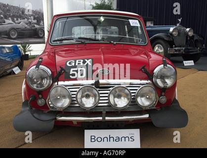 Paddy Hopkirk 1967 Circuit of Ireland winner 1966 Austin Mini Cooper S Goodwood Sussex England 2007 - Stock Photo