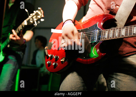 Amusement Parks on Fire live at the TDK Cross Central festival at Kings Cross Goods Yard London - Stock Photo