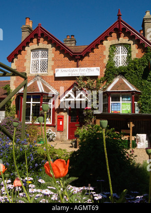 Somerleyton Village Post Office Countryside Rural Scene - Stock Photo