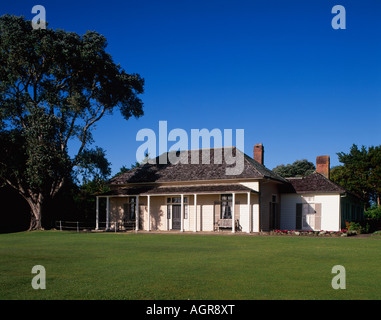 Waitangi Treaty House Paihia Northland North Island New Zealand - Stock Photo