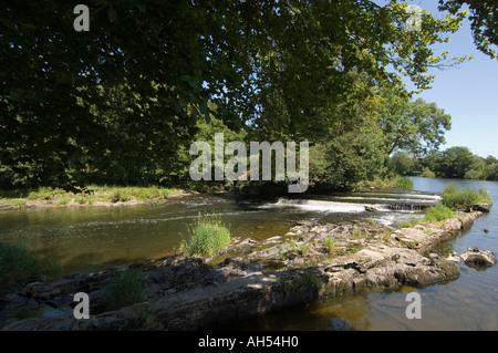 The river Teifi at Newcastle emlyn Carmarthenshire Wales Cymru - Stock Photo