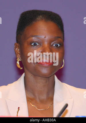 Baroness Amos Labour Peer Portrait Labour Party Conference Bournemouth 2003 - Stock Photo