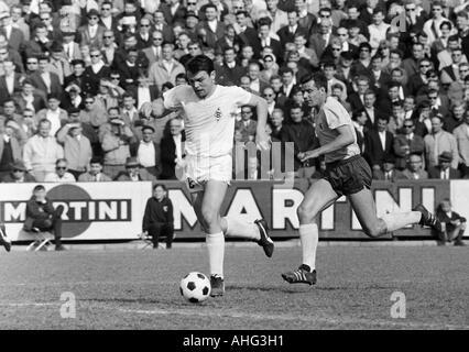 football, Bundesliga, 1966/1967, Stadium at the Hamburger Strasse, Eintracht Brunswick versus Borussia Moenchengladbach - Stock Photo