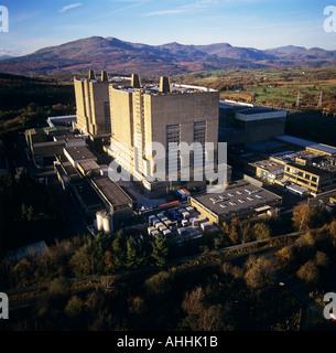 Trawsfynydd Nuclear Power Station Gwynedd Wales UK aerial view - Stock Photo