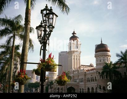 Malaysia Kuala Lumpur Merkeda Square Sultan Abdul Samad building - Stock Photo