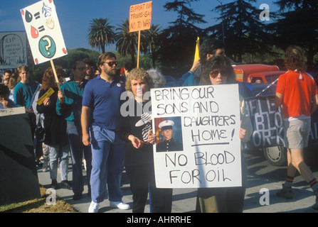Americans protesting war in Middle East Los Angeles California - Stock Photo