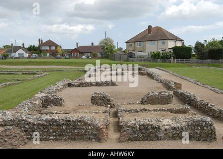 Caister-on-sea roman fort Norfolk England - Stock Photo