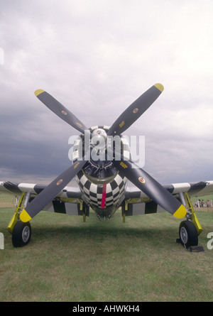 P-47D Thunderbolt American Military 4 Bladed Propellor Battle of Britain Fighter Aeroplane - Stock Photo