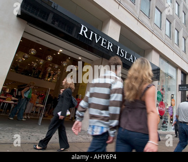 River Island store on Oxford Street London - Stock Photo