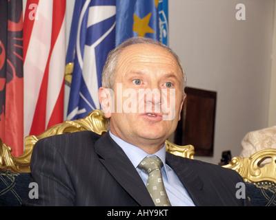Fatmir Sejdiu - President of Kosovo, a Serbian province under UN administration since the 1999 Kosovo War - Stock Photo