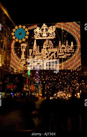 Christmas illuminations in Essen, Germany. 2006 - Stock Photo