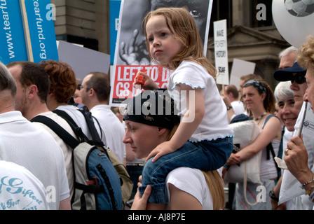 Make Poverty History Demonstration - Stock Photo