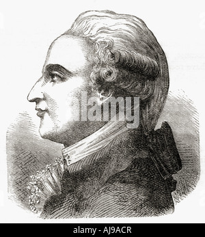 Jean-Pierre [François] Blanchard, 1753 – 1809. French inventor, pioneer in balloon flight. - Stock Photo