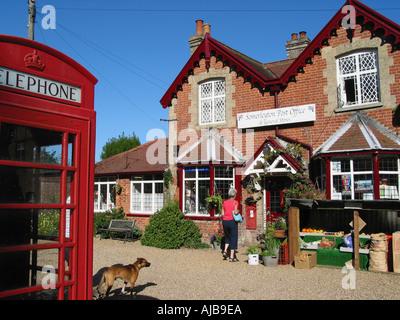 Traditional English Village Post Office Somerleyton Village Suffolk England GB - Stock Photo