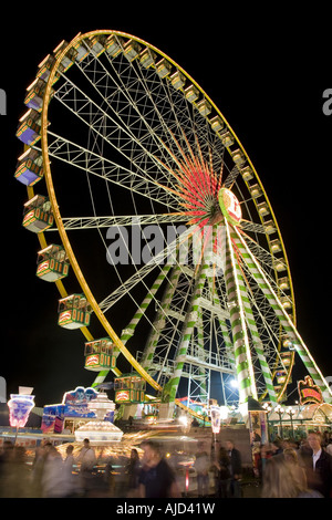 big wheel on the Cranger fair at night, Germany, Ruhr Area, Herne - Stock Photo