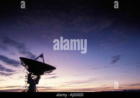 Very Large Array VLA radiotelescope Socorro NM USA - Stock Photo