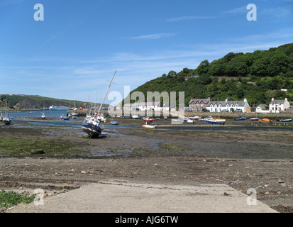 Fishguard Harbour in Pembrokeshire West Wales in August 2007 - Stock Photo