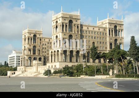 soviet headquarters Baku - Stock Photo
