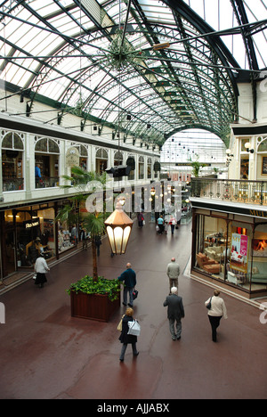 A view of Wayfarers Arcade in Southport, Merseyside. This is a very popular shopping venue in this gentile resort. - Stock Photo