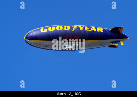 Goodyear Airship Blimp the Spirit of America in Flight California USA Registration number N10A - Stock Photo