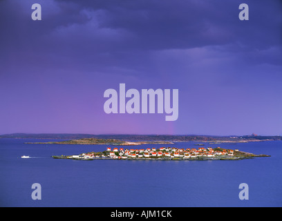 Island village on Åstol in Bohuslän along West Coast of Sweden - Stock Photo