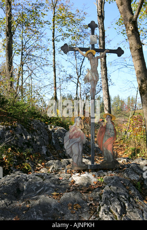 memorial place near Lechfall in Fussen Bavaria Germany - Stock Photo
